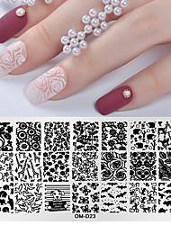 tanie -1 szt. Narzędzie do stemplowania paznokci szablon stemplowania płytki seria zwierzęca / seria kwiatowa kreatywny zdobienie paznokci pedicure koreański codziennie