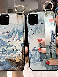 cheap -Funda 3D Case for iPhone 11 Pro Max XS MAX XR 6 6S Plus 7 Plus 8 Plus Tassel Wristband Ink Painting Shell Soft Case Cover