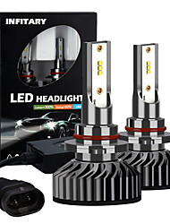 cheap -INFITARY LED F2-ZES Chip 9005 Auto Car Headlight Bulb 72W 8000LM LED Headlamps