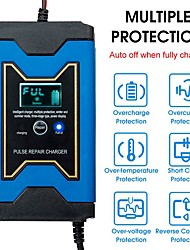 cheap -12V Full Automatic Car Battery Charger Power Intelligent Pulse Repair LCD Truck Motorcycle Battery Charger