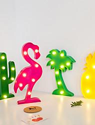 cheap -LED Night Light Christmas Decoration for Home Bar Bedroom Indoor Modeling Light Christmas Tree Flamingo Cactus Pineapple