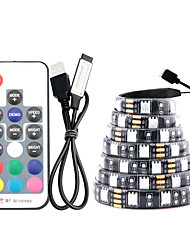 cheap -5m LED Light Strips RGB Tiktok Lights TV Backlight 150 USB IP65 Waterproof RF 17 Keys Remote Control 16 Colors Change for 40 to 60inch TV Backlight