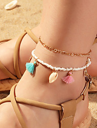 cheap -Leg Chain Classic Tassel Rustic Women's Body Jewelry For Party Evening Gift Tassel Shell Alloy Lucky Gold 2pcs