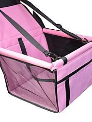 cheap -Cat Dog Seat Cushions Car Mattress Pet Booster Seat Portable Foldable Geometry Fabric Black / White Black Red