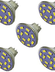 cheap -5pcs 2 W LED Spotlight 300 lm MR11 12 LED Beads SMD 5730 Warm White Natural White White 9-30 V