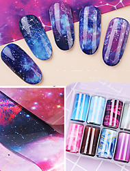 cheap -10 pcs Foil Sticker Butterfly / Galaxy nail art Manicure Pedicure Color Gradient / Creative Elegant / Fashion Party / Evening / Daily