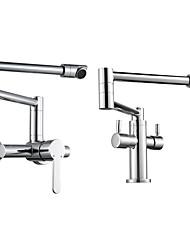 cheap -Kitchen faucet - Single Handle One Hole Chrome Pot Filler Other Contemporary Kitchen Taps