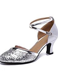 cheap -Women's Modern Shoes Heel Cuban Heel Silver