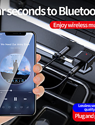 cheap -Usb Bluetooth Transmitter Receiver With 3.5mm Audio Aux Mobile Audio Car Speakers