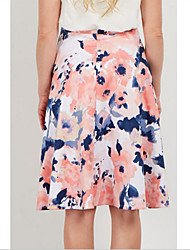 cheap -Women's A-Line Dress Knee Length Dress - Half Sleeve Print Summer Casual Mumu 2020 White S M L XL XXL