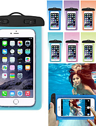 cheap -Case For Apple iPhone 11 / iPhone 11 Pro / iPhone 11 Pro Max Water Resistant Waterproof Pouch Solid Colored PVC