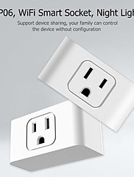 cheap -2 In 1 WiFi Smart Socket Led Night Light Socket Alexa Home Supports WiFi Application-US