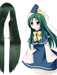 cheap -Cosplay Costume Wig Cosplay Wig Mima TouHou Project Straight Cosplay Halloween With Bangs Wig Long Green Synthetic Hair 39 inch Women's Anime Cosplay Creative Green