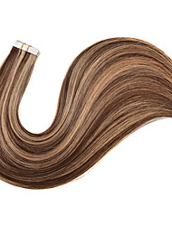 cheap -16-24 inch 20pcs Tape in Human Hair Extensions Seamless Skin Weft Natural Hair Long Straight Hair 100% Human Hair Extensions