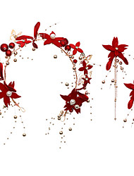 Недорогие -Жен. Свадебные комплекты ювелирных изделий Цветы Мода Серьги Бижутерия Красный Назначение Свадьба Для вечеринок 1 комплект