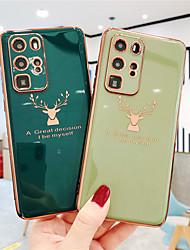 cheap -Electroplated Deer Phone Case For Huawei P40 P40Pro Plus P30 P30Pro Honor 30 30Pro 30s 20Pro Play 4T 9X 9XPro Mate 30 30Pro Nova 7 7i 7SE 7Pro 6SE Shockproof Protective Back Cover Capa
