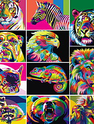 cheap -Paints By Numbers Animals 50x40cm Pictures Oil Painting By Numbers Set Gift Coloring By Numbers Canvas Wall Set