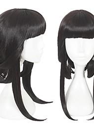cheap -Cosplay Costume Wig Cosplay Wig Zhen Ji King of Glory Straight Cosplay Halloween With Bangs Wig Medium Length Black Synthetic Hair 18 inch Women's Anime Cosplay Classic Black