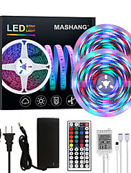 cheap -Bright RGBW LED Strip Lights 32.8ft 10M Waterproof RGBW Tiktok Lights 2340LEDs SMD 2835 with 44 Keys IR Remote Controller and 100-240V Adapter for Home Bedroom Kitchen TV Back Lights DIY Deco