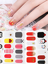 cheap -1 pcs Full Nail Stickers Flower / Daisy nail art Manicure Pedicure Creative / Light and Convenient Romantic / Cute Daily / Festival