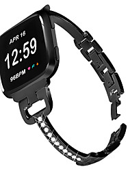 cheap -Watch Band for Fitbit Versa / Fitbit Versa 2 Fitbit Modern Buckle / Jewelry Design / Business Band Stainless Steel Wrist Strap