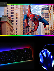 cheap -250*350*4mm Gaming Mouse Pad Luminous Mouse Pad PVC Leather Rubber Dest Mat