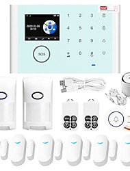 cheap -CS118 Home Alarm Systems GSM + WIFI iOS / Android Platform GSM + WIFI Wireless Keyboard / SMS / Phone 433 Hz for