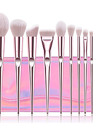 cheap -Professional Makeup Brushes 10pcs Professional Full Coverage Comfy Artificial Fibre Brush Plastic for Blush Brush Foundation Brush Makeup Brush Eyeshadow Brush
