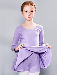 cheap -Ballet Dress Bow(s) Girls' Training Performance Long Sleeve High Spandex