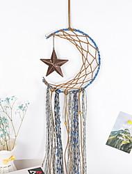 cheap -Boho Dream Catcher Handmade Gift Wall Hanging Decor Art Ornament Craft Feather Moon Star for Kids Bedroom Wedding Festival 20*70cm
