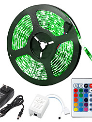 cheap -5m Flexible LED Strip Lights Light Sets RGB Tiktok Lights LEDs 5050 SMD 10mm RGB Remote Control RC Cuttable Dimmable 12 V Linkable Self-adhesive Color-Changing