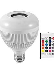 Недорогие -12 Вт rgbбелая лампа светодиодная лампа e27 беспроводной динамик bluetooth умный светодиодный музыкальный проигрыватель аудио с пультом дистанционного управления красочные музыкальная лампа