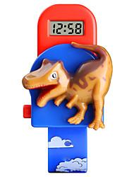billiga -SKMEI Barn Digital klocka Digital Djurmönster Blå / Röd Kreativ Ny Design Vackert Digital Tecknat - Blå Rubinrött Ett år Batteriliv