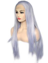 Недорогие -моде королева сливер синий синтетический парик фронта шнурка высокотемпературные волокна натуральные волосы ежедневно носить для женщин