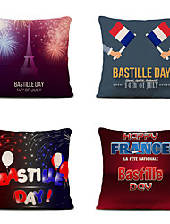 Недорогие -Набор из 4 наволочек для дома Бастилия дневная наволочка для дивана 45см х 45см кровать с принтом наволочка