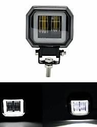 cheap -3inch 12/24V 6500K 20W Square LED Work Light With White Angel Eyes Lights Spot Fog light For Car Boat Motorcycle