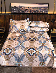cheap -Summer Mat - 3-Piece Set/ 1 Bed Sheet and 2 Pillowcases / Ultra Silky Soft Polyester / Luxury Palace Printed