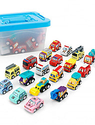 cheap -Toy Car Vehicle Playset Pull Back Car / Inertia Car Cartoon Gift Cool Birthday Metal Alloy Mini Car Vehicles Toys for Party Favor or Kids Birthday Gift 20 pcs