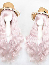 cheap -Cosplay Wig Lolita Curly Cosplay Halloween With Bangs Wig Long Pink Synthetic Hair 31 inch Women's Anime Cosplay Comfortable Pink