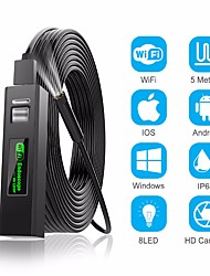 cheap -1200P Endoscope Camera Wireless Endoscope 2.0 MP 1M 2M 5M HD Borescope Rigid Snake Cable for IOS iPhone Android Samsung Smartphone PC