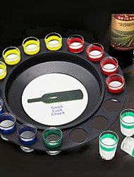cheap -Drink Game Russia Casino Wine Bottle Spinner 16 Glasses with 4 Colors 1 Board