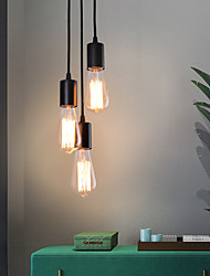 cheap -3-Light 12 cm Cluster Design Pendant Light Metal Electroplated Vintage Nordic Style 110-120V 220-240V