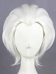 Недорогие -Маскарадные парики Широ Эмия Арчер Остаться на ночь это судьба Прямой Косплей Ассиметричная стрижка Парик Длинные Белый Искусственные волосы 26 дюймовый Жен. Аниме Косплей Лучшее качество Белый