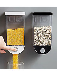 cheap -1pc Grain Storage Box Plastic 1500 ml Wall-mounted Tank Home Cereal Bean Rice Container Oatmeal Dispenser