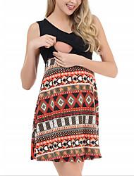 cheap -Women's A-Line Dress Knee Length Dress - Sleeveless Color Block Summer Casual Vintage 2020 Black Blue Gray S M L XL XXL