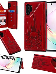 cheap -Case For Samsung Galaxy Note 9 / Note 8 / Galaxy Note 10 Card Holder / with Stand Back Cover Skull PU Leather