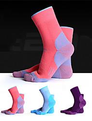 cheap -R-BAO Hiking Socks Socks 1 Pair Breathable Warm Sweat-wicking Comfortable Chinlon Elastane Autumn / Fall Spring Winter for Women's Ski / Snowboard Fishing Climbing Purple Pink Sky Blue / Cotton