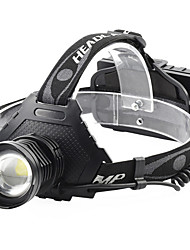cheap -P70 headlamp Headlamps Waterproof 3000 lm LED LED 1 Emitters 5 Mode with USB Cable Waterproof Rotatable Portable Lightweight Creepy Camping / Hiking / Caving Everyday Use Cycling / Bike Outdoor USB