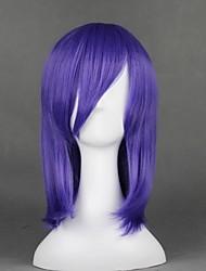 cheap -Cosplay Costume Wig Cosplay Wig Kumoi Ichirin TouHou Project Straight Cosplay Halloween With Bangs Wig Medium Length Purple Synthetic Hair 18 inch Women's Anime Cosplay Comfy Purple