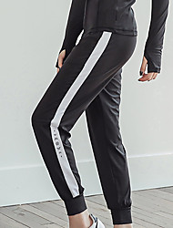 cheap -Women's Jogger Pants Joggers Running Pants Track Pants Sports Pants Athletic 1pc Athleisure Wear Bottoms Side-Stripe Pocket Elastane Sport Running Walking Jogging Breathable Quick Dry Soft Black
